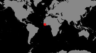 Ebolan levinneisyys kartalla.