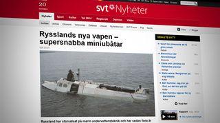 Kuvakaappaus SVT:n sivuilta.