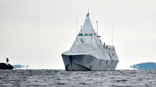 Korvetti HMS Visby.