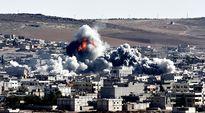 Näkymä Kobaneen Turkin suunnasta