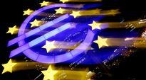 Euroopan keskuspankin logo kuvattuna pitkällä valotusajalla.