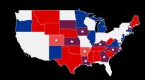 Kartta USA:n senaatin voimasuhteissa vaaleissa