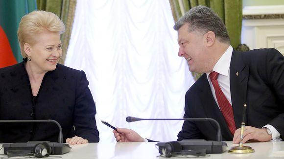 Dalia Grybauskaite ja Petro Porošenko.