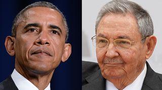 Barack Obama ja Raul Castro