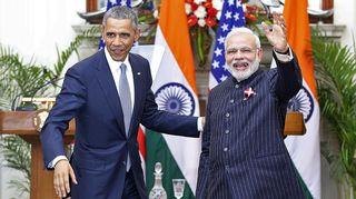 Narendra Modi ja Barack Obama.