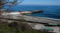 Hiekkaranta Krimin niemimaalla.