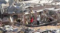 Räjähdysonnettomuudessa tuhoutunut sairaala Meksikossa.