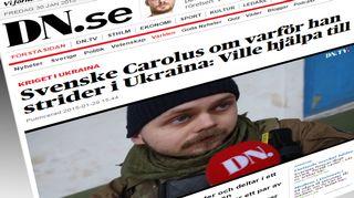 Kuvakaappaus Dagens Nyheterin www-sivuilta.