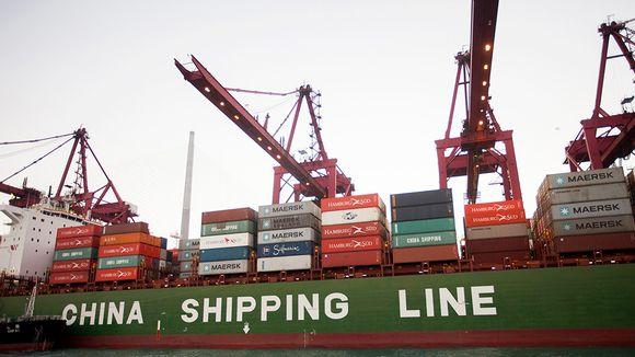 Kontteja Kwai Chungin satamassa Hongkongissa.