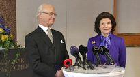 Video: Ruotsin kuningas Kaarle Kustaa ja kuningatar Silvia puhuuvat tiedotusvälineille Hanasaaren kulttuurikeskuksessa Espoossa.
