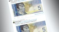 Spock on saanut naamansa kanadalaisiin seteleihin.