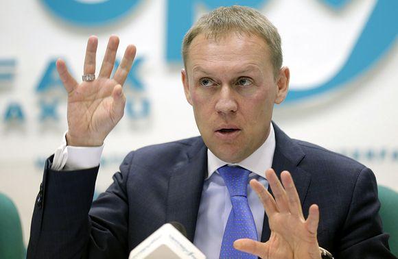 Andrei Lugovoi kuvattuna lehdistötilaisuudessa Moskovassa 12. maaliskuuta 2013.