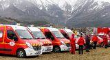 Hälytysajoneuvoja Seynen kylässä, Ranskan alpeilla, 24. maaliskuuta.