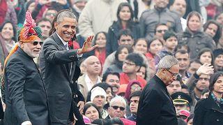 Barack Obama ja Narendra Modi.