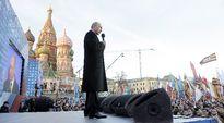 Venäjän presidentti Vladimir Putin Moskovassa 18. maaliskuuta.