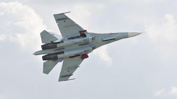 Sukhoi Su-27-hävittäjä.