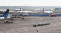 Domodedovon kansainvälinen lentoasema Moskovassa.
