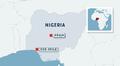 Nigerian kartta.