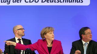 Armin Laschet, Angela Merkel, Peter Tauber