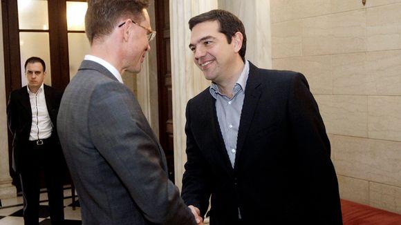 Jyrki Katainen ja Alexis Tsipras tapaavat Ateenassa.