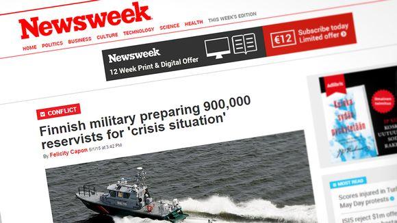 Kuvakaappaus europe.newsweek.com -sivustolta.