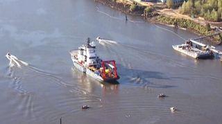 Video: Fennica kuvattuna satama-altaassa Portlandissa.