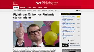 Kuvakaappaus SVT: nettisivuilta.