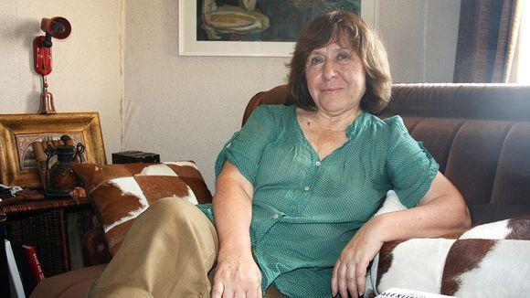 Valkovenäläinen kirjailija Svetlana Aleksijevitš.