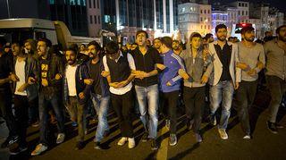 Mielenosoitus Turkin Istanbulissa.