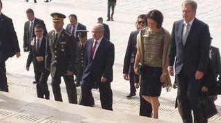 Presidentti Sauli Niinistö vierailee Turkissa puolisonsa Jenni Haukion kanssa.