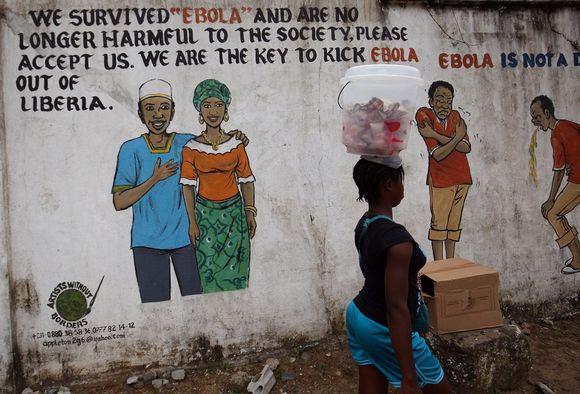 Seinämaalaus Monroviassa 3. syyskuuta 2015.