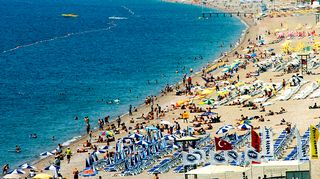 Antalyan hiekkaranta.