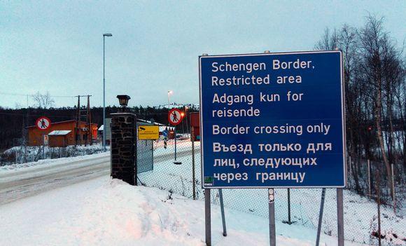 Storskogin raja-asema Norjassa.