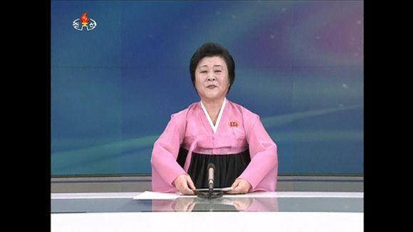 Video: Pohjoiskorealainen uutistenlukija kertoo ydinkokeesta