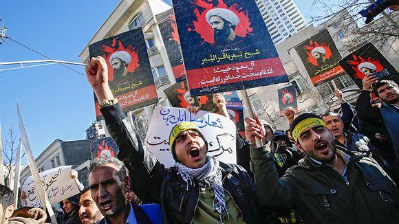mielenosoittajat huutavat ja pitelevät plakaateja