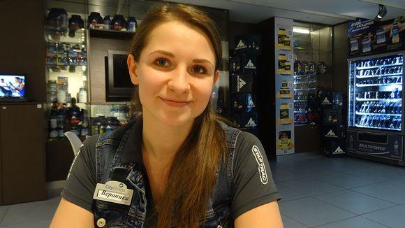 Veronika Suspitsina työskentelee fitness-ohjaajana,