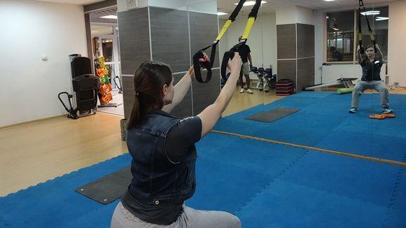 Veronika näyttää yhtä suosittua harjoitustapaa.