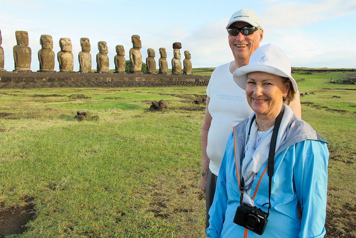Harald ja Sonja Pääsiäissaarilla 2014