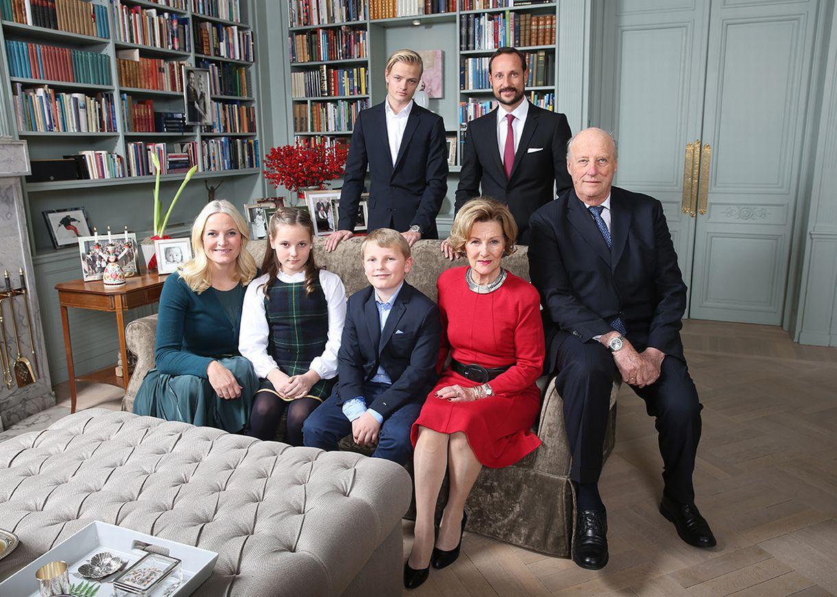 Norjan kuninkaallinen perhe.