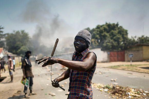 Hallituksen vastainen mielenosoitus Burundissa 3. kesäkuuta 2015.