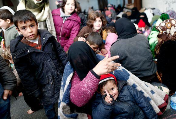 Pakolaisia Bab al-Salamassa.