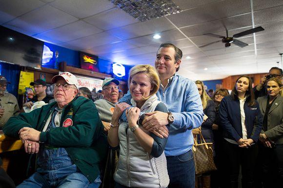 Heidi ja Ted Cruz Iowassa 29. tammikuuta.