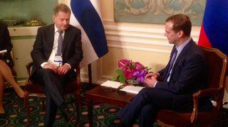 Sauli Niinistö ja Dmitri Medvedev.
