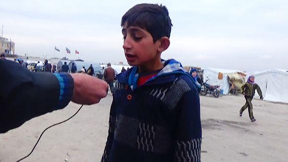Video: Syyrialaispakolaisia Bab-al-Salaman leirissä.