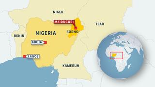 Nigeria kartalla.