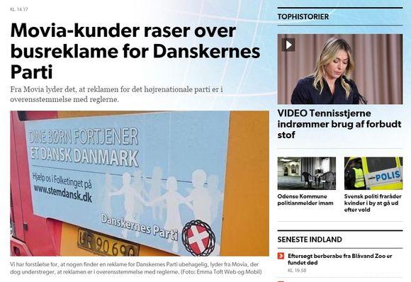 Kansallismieliset mainokset ovat herättäneet pahaa verta Kööpenhaminassa.