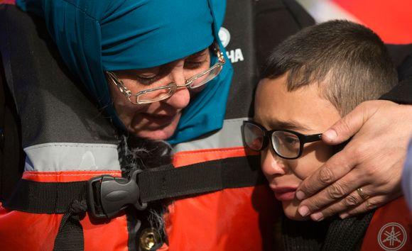 Syyrialaispoika ja äiti