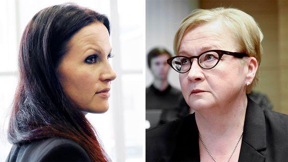 Syyttäjä Pihla Keto-Huovinen ja asianajaja Riitta Leppiniemi.
