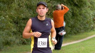 Andreas Lubitz juoksukilpailussa syyskuussa 2019.