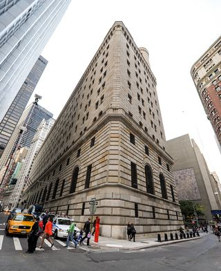 Yhdysvaltain keskuspankin New Yorkin konttorin rakennus.